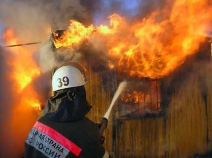 Пожар в муниципальном образовании Бейский район