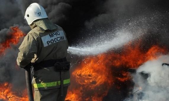 Пожар в муниципальном образовании Боградский район